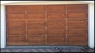 Garage door 5-double-gothic-wooden-door
