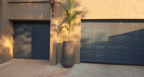 Garage Door Double Steel Charcoal