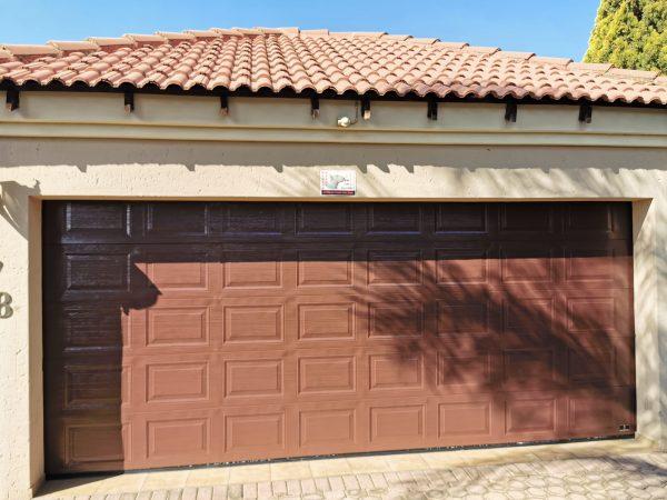 double garage wooden garage door