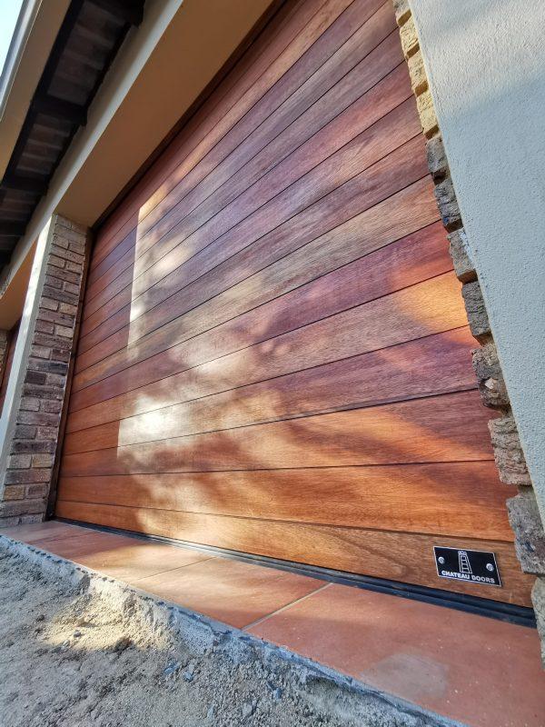 singe wood garage doors