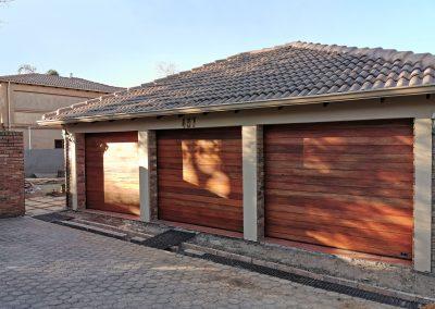 triple garage door