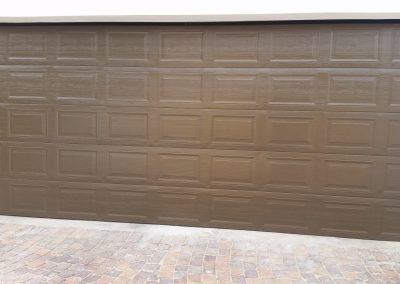 Garage door double-bronze-chromadek-door